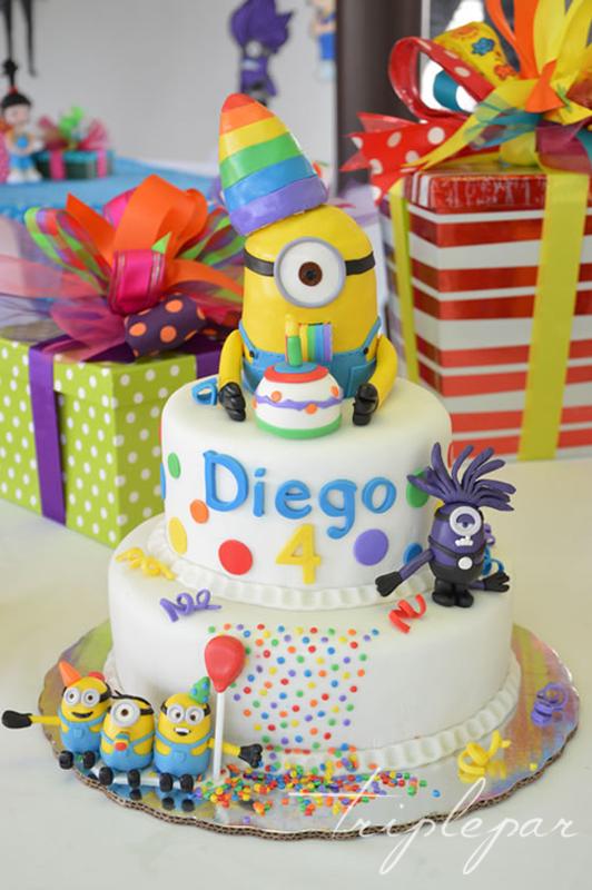 Pastel de Cumpleaños 4 de Diego