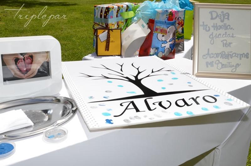 Mesa de regalos en el Bautizo de Alvaro