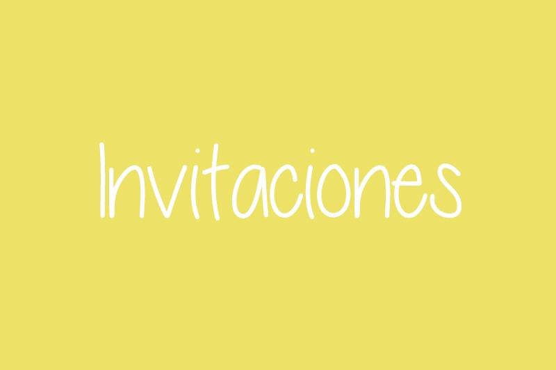 Invitaciones para Fiestas Infantiles